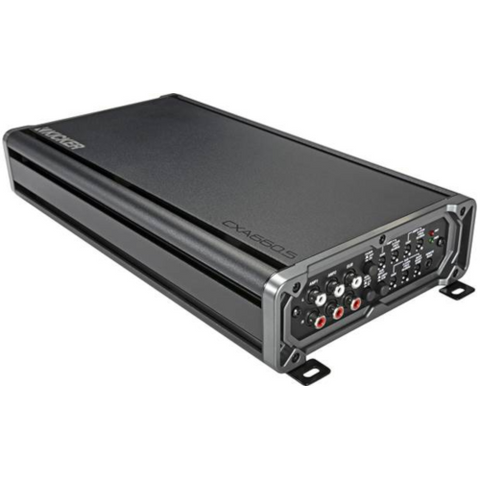KICKER CX Series 5 Channel Car Amplifier, 65 Watt RMS x 4 at 4 Ohm + 300 Watt RMS x 1 at 2 Ohm (46CXA660.5) - Extreme Electronics