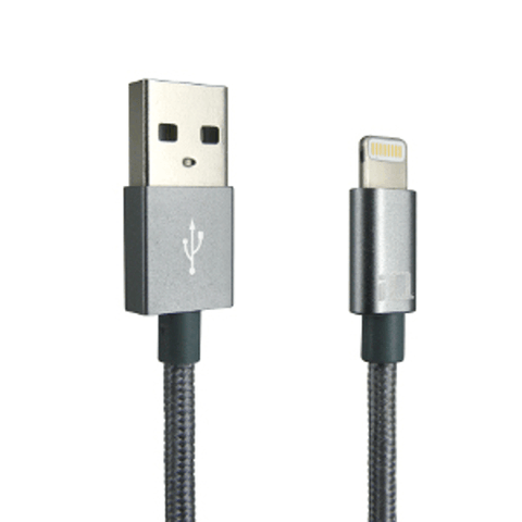 IQ LIGHTNING CABLE - GREY - 1.2M 4 FT FOR APPLE - Extreme Electronics - The Best for Less! Brandon, Manitoba