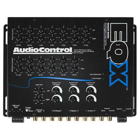 AUDIO CONTROL 13 Band Graphic Equalizer With 2-Way Crossover (EQX) - Extreme Electronics