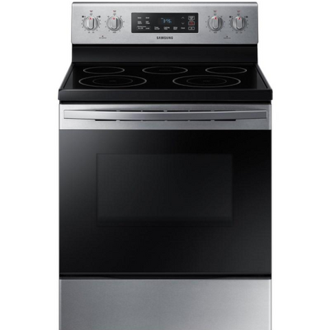 "SAMSUNG 30"" Freestanding Electric Range with Self-Cleaning Oven, Stainless Steel (NE59T4311SS/AC) - Extreme Electronics"