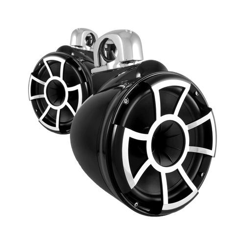 "Wet Sounds 10"" EFG 4 Ohm EFG™ HLCD Black Tower Speakers, Pair (REV10B)"
