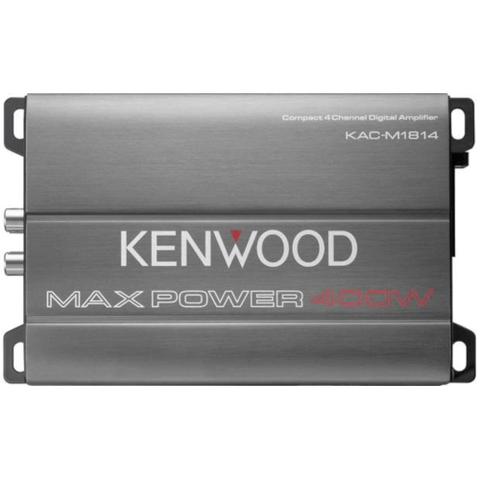 Kenwood Compact 4-channel amplifier — 45 watts RMS x 4 (KACM1814)