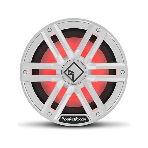 "ROCKFORD FOSGATE M2 Series 10"" Marine Subwoofer with Dual 2 Ohm Voice Coils and RGB LED Lighting, White (M2D2-10i) - Extreme Electronics"