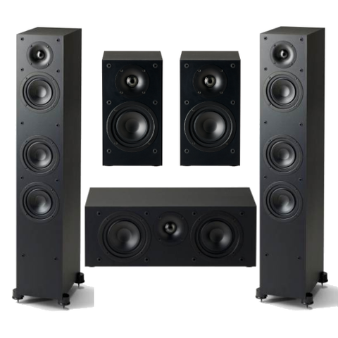Paradigm Monitor SE 3000F 5.0 channel Speaker Bundle, Black - Extreme Electronics