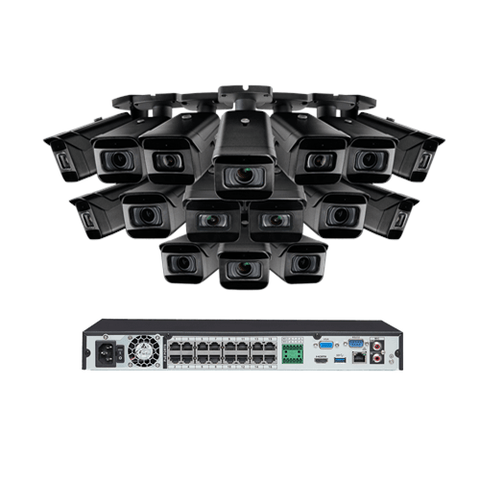 EXTREMEPRO 4K Ultra HD IP NVR System, 16 Outdoor 4K 8MP IP Cameras, 8 Optical 4x Zoom Cameras, 8 Audio Cameras, 250FT Night Vision, EXPANDABLE 3TB HARD DRIVE (EXTPROVN8861PIDHK4) - Extreme Electronics