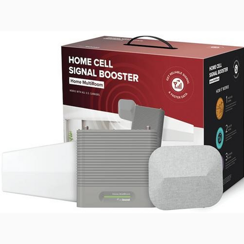weBoost  4G/5G READY LTE MULTI USER 65DB Home MultiRoom 5000 SQ FT Signal Booster Kit (650144)