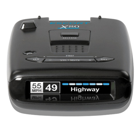 ESCORT PASSPORT X80 Radar Detector with bluetooth, multi-color display and autolearn technology - Extreme Electronics