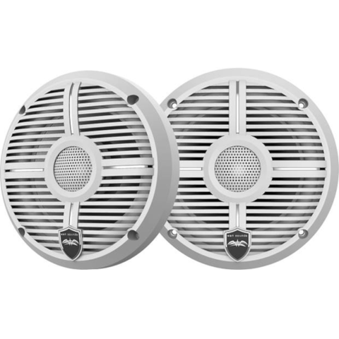 "WET SOUNDS RECON 6 1/2"" Coaxial marine speakers, White, Closed Grille, PAIR (RECON6XWW) - Extreme Electronics"