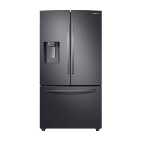 "SAMSUNG 36"" 22.6 Cu. Ft Counter Depth French Door Refrigerator with Twin Cooling Plus, Black Stainless Steel (RF23R6201SG/AA) - Extreme Electronics"