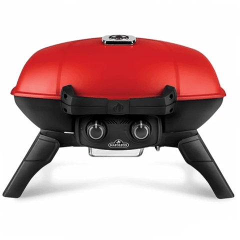 NAPOLEON Travel Q 285 Portable Propane Grill With Griddle, Red (TQ285RD1A) - Extreme Electronics