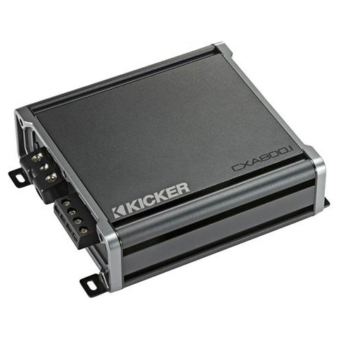 KICKER CX Series mono subwoofer amplifier — 800 watts RMS x 1 at 1 ohms (46CXA800.1) - Extreme Electronics