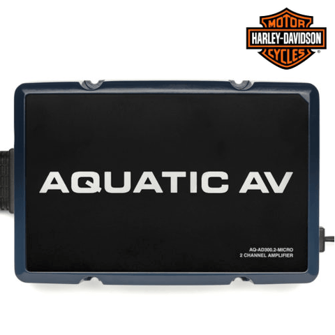 AQUATIC AV 2 Channel Harley Davidson Amplifier (AQAD3002MICRO) - Extreme Electronics
