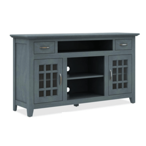 "Bello Burke 60"" MEDIA TV Stand - BLUE (BURKE) - Extreme Electronics"