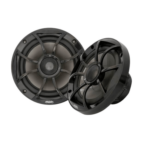 "WET SOUNDS RECON 6 1/2"" Coaxial marine speakers, Black, open XS Grille, PAIR (RECON6BG) - Extreme Electronics"