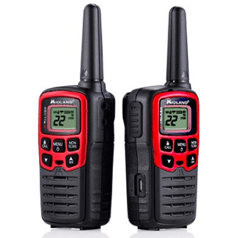 MIDLAND X-Talker Red Radios Up To 26 Miles, Pair (T31VP) - Extreme Electronics