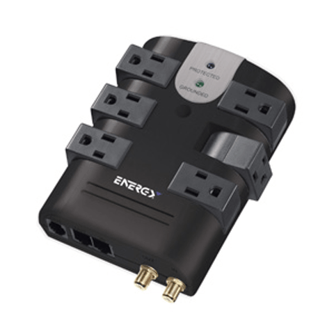 ultralink 6 Outlet Rotating Surge Protector (ELC75) - Extreme Electronics