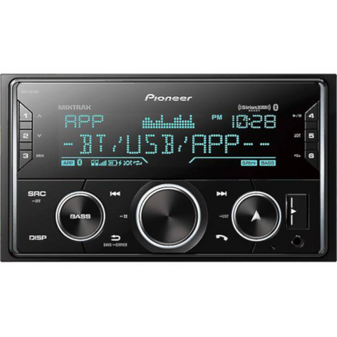 Pioneer Double DIN CD Bluetooth Receiver with Smart Sync and MIXTRAX (FHS720BS)