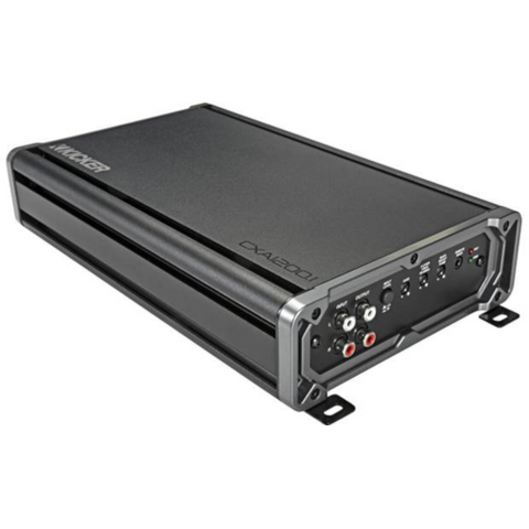 KICKER CX Series mono subwoofer amplifier — 1,200 watts RMS x 1 at 2 ohms (46CXA1200.1) - Extreme Electronics