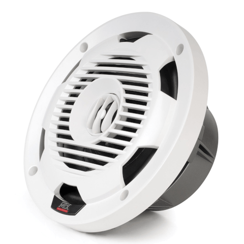 "MTX Audio White 6.5"" 65-Watt RMS 4Ω Coaxial Marine Speakers, Pair  (WET65W)"