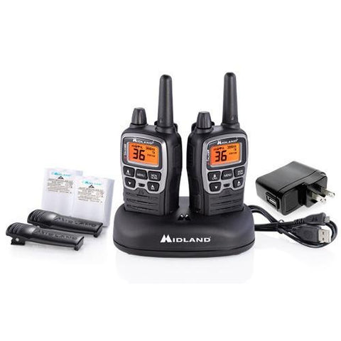 MIDLAND X-TALKER BLACK RADIOS UP TO 38 MILES ( PAIR ) - Extreme Electronics - The Best for Less! Brandon, Manitoba - 1