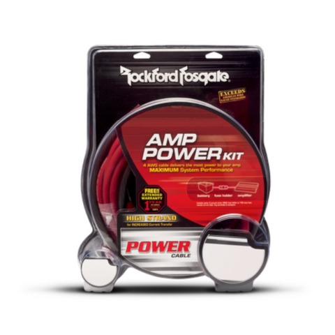 ROCKFORD FOSGATE 4-Gauge Amplifier Power and Signal Installation Kit (RFK4i) - Extreme Electronics