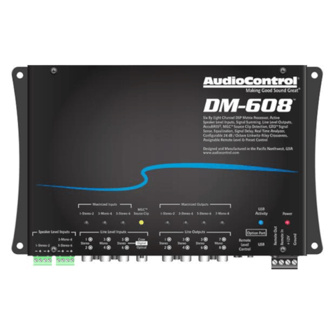AUDIO CONTROL  Digital Signal Processor, 6 Inputs, 8 Outputs (DM608) - Extreme Electronics