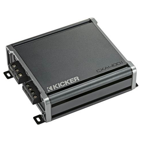 KICKER CX Series mono subwoofer amplifier — 400 watts RMS x 1 at 1 ohms (46CXA400.1) - Extreme Electronics