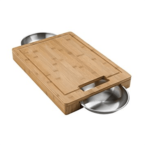 NAPOLEON PRO Cutting Board with Stainless Steel Bowls (NAP70012) - Extreme Electronics