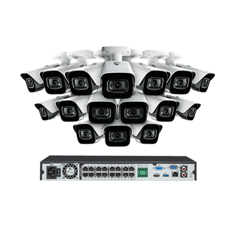 EXTREMEPRO 4K 16 Channel 16 All Weather 130 Color Night Vision 8MP 3TB Security Camera System (EXTPROBW61613K4N) - Extreme Electronics