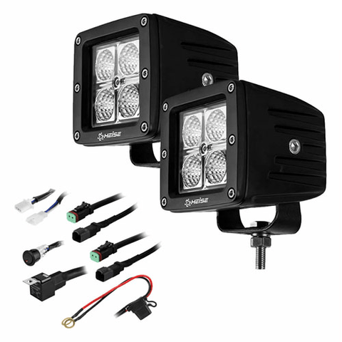 "HEISE Cree 3"" 4 LED Cube Light Kit, Pair (HECL22PK) - Extreme Electronics"