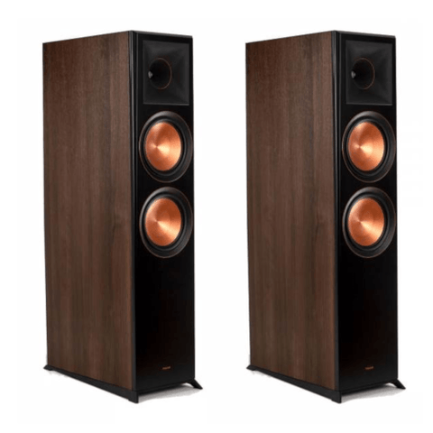 "Klipsch Dolby Atmos Dual 8"" woofer Floorstanding Speakers-Walnut, PAIR (RP8060FAW) - Extreme Electronics"
