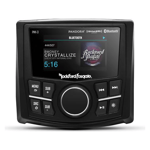 ROCKFORD FOSGATE Marine Digital Media Receiver with Bluetooth® and Camera Input, DOES NOT PLAY CDS (PMX3) - Extreme Electronics