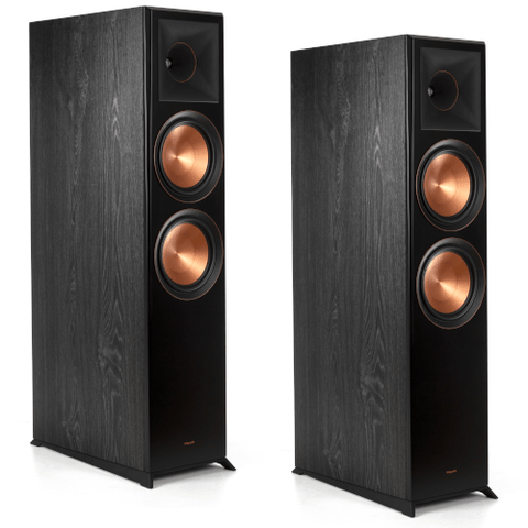 "Klipsch Dolby Atmos Dual 8"" Woofer Floorstanding Speakers-Black, PAIR (RP8060FAB) - Extreme Electronics"