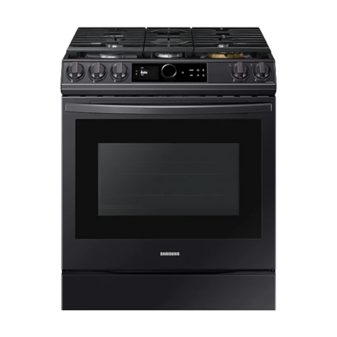 SAMSUNG 6.0 Cu. Ft. Gas Range with 22K Double Burner and Air Fry, Black Stainless Steel (NX60T8711SG/AA) - Extreme Electronics