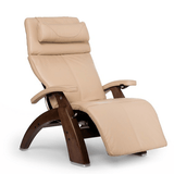 HUMAN TOUCH Perfect Chair 610 With Premium Leather Pad and Omni Motion, Classic Walnut Base - Extreme Electronics