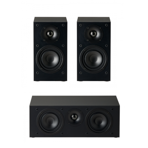 Paradigm Monitor SE Atom Bookshelf Speakers and Monitor SE 2000C Center Speaker Bundle, Black - Extreme Electronics