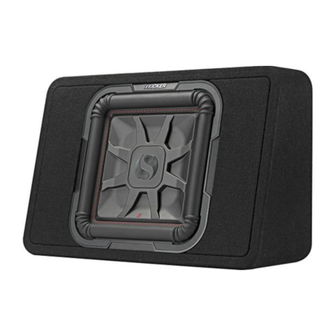 "KICKER Shallow Mount Sealed Enclosure With L7T Series 2 Ohm 10"" Subwoofer (46TL7T102) - Extreme Electronics"