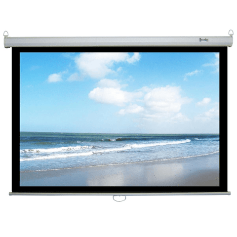 "Cinema Choice 106"" 16x9 matt white hd Manual Pulldown Screen - Extreme Electronics"