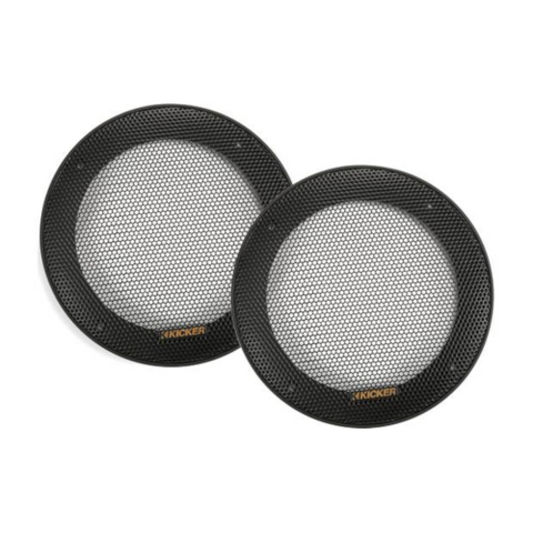 "KICKER 5-1/4"" grilles for KS Series car speakers, PAIR (47KSC5G) - Extreme Electronics"