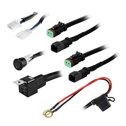 HEISE Cree 1 Lamp DT Wiring Harness & Switch Kit  (HESLWH1) - Extreme Electronics