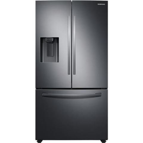 "Samsung 36"" 27.0 cu. ft. French Door Refrigerator with SpaceMax Technology - Black Stainless Steel (RF27T5201SG/AA) - Extreme Electronics"