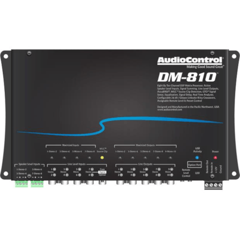Audio Control Digital signal processor — 8 inputs, 10 outputs (DM810)