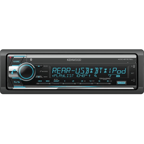 KENWOOD CD Receiver With USB, AUX, Sirius XM Ready, Multi Color LED Display, and 3 Preout (KDCBT572U) - Extreme Electronics