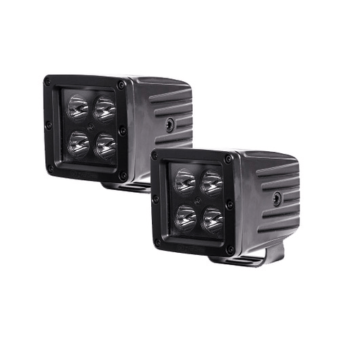"HEISE Cree 3"" 4 LED Blackout Series Cube 2 Light Kit - Extreme Electronics"