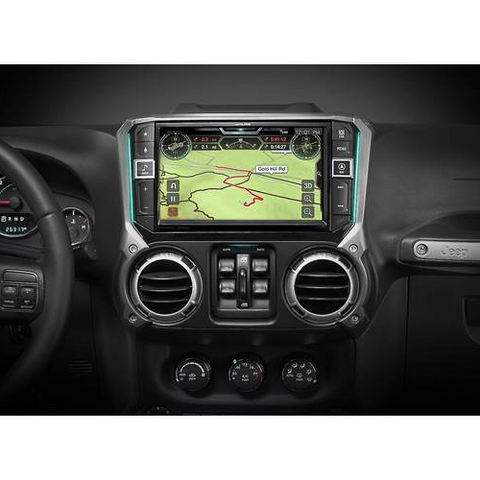 "ALPINE 9"" Custom-Fit Digital Multimedia Receiver for Select 2011-18 Jeep Wrangler, DOES NOT PLAY CDs (X409WRAJK) - Extreme Electronics"