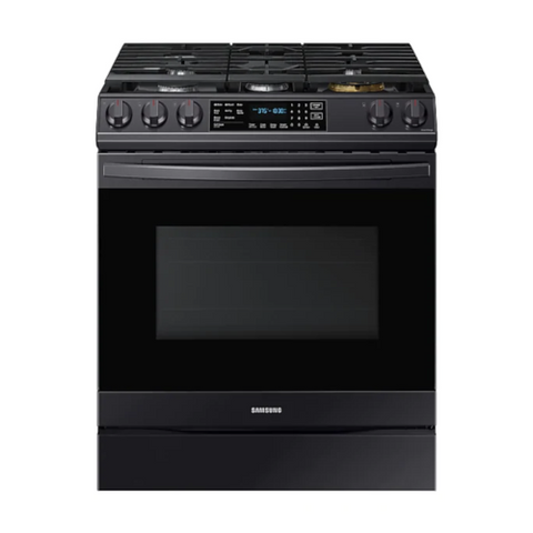 SAMSUNG 6.0 Cu. Ft. Gas Range with True Convection and Air Fry, Black Stainless Steel (NX60T8511SG/AA) - Extreme Electronics