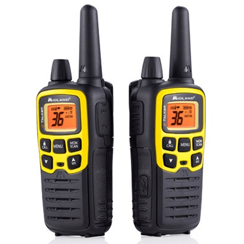 MIDLAND X-TALKER YELLOW RADIOS UP TO 32 MILES, pair (T61VP3) - Extreme Electronics