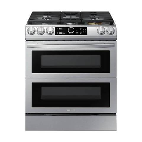 SAMSUNG 6.3 Cu. Ft. Dual Fuel Range with True Convection and Air Fry (NY63T8751SS/AC) - Extreme Electronics