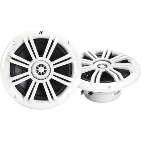 "KICKER 6 1/2"" 2-Way Marine Speakers White, Pair (41KM604W) - Extreme Electronics"