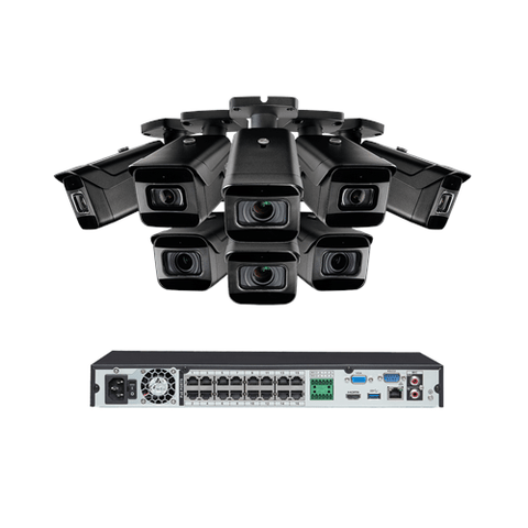 EXTREMEPRO 4K Ultra HD IP NVR 16 CHANNEL System with 8 Cameras, 250FT COLOR NIGHT VISION, 3TB Expandable Hard Drive (EXTPROIN861PIDHK4) - Extreme Electronics